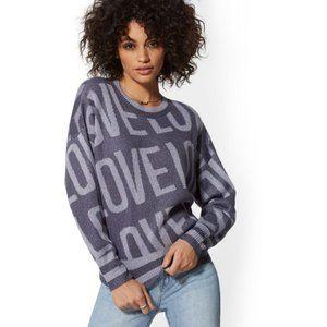 NWT New York & Company Metallic Love Sweater Med